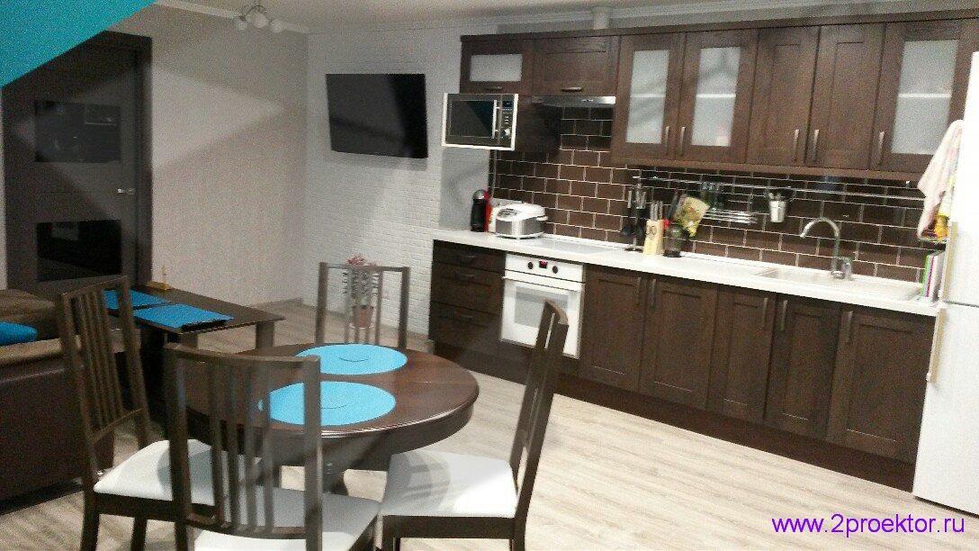 Перепланировка квартиры. Объединение кухни с электрической плитой и гостиной