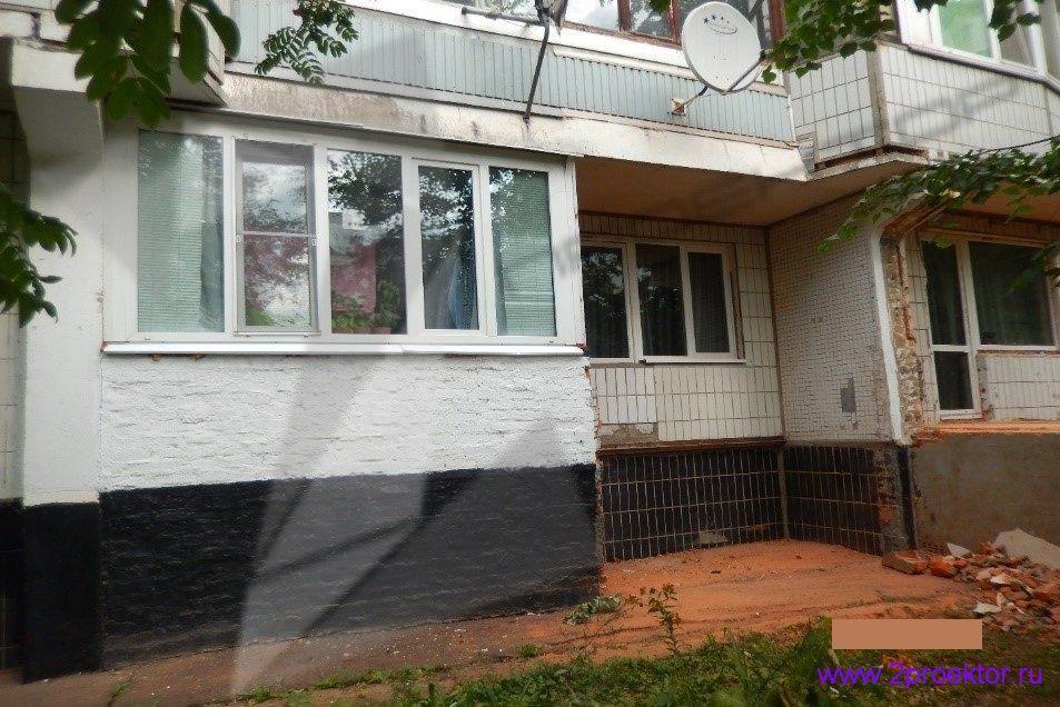 Демонтаж незаконно пристроенных балконов в районах Крюково и Северное Тушино (Рис 6.)