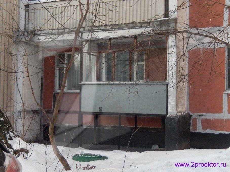 Демонтаж незаконно пристроенных балконов в районах Крюково и Северное Тушино (Рис 3.)