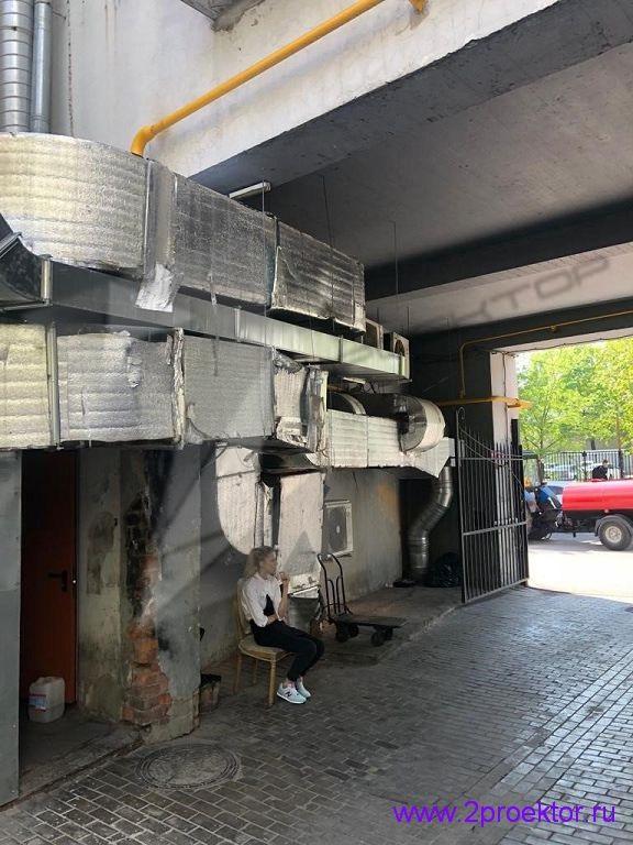 Незаконное размещение вентиляционного оборудования на фасаде домов (Рис. 5)