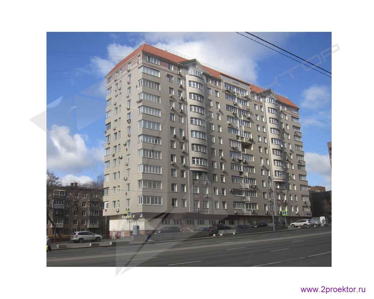 Пример монолитного дома в Москве