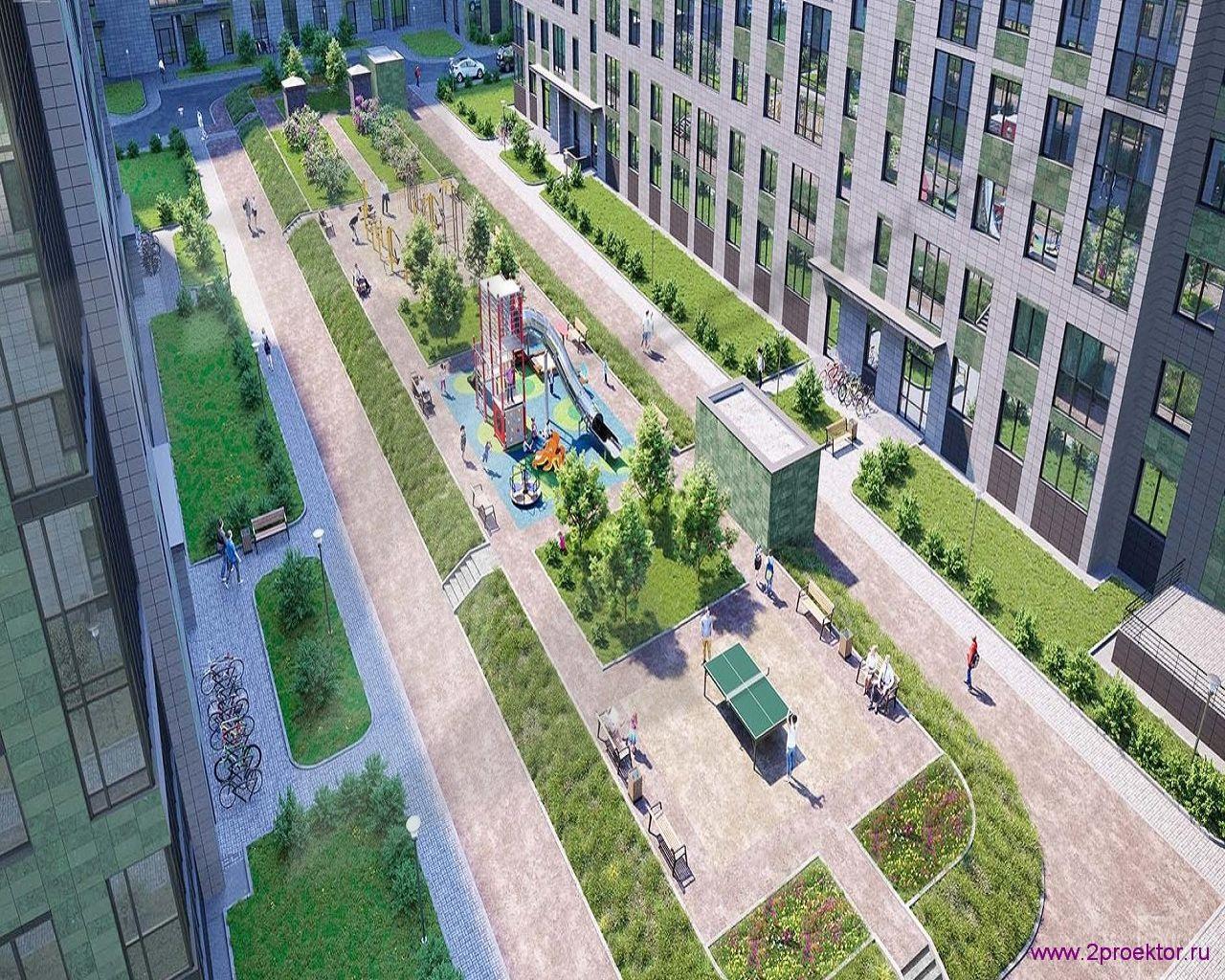 Детская площадка жилого комплекса Эмеральд.