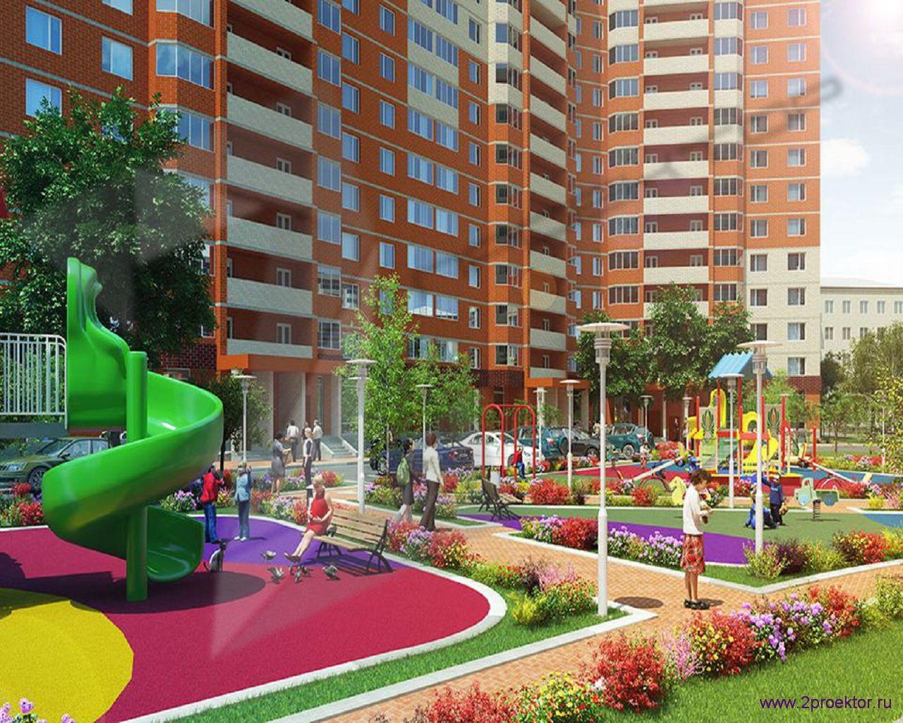 Детская площадка в Жилом комплексе Корона.