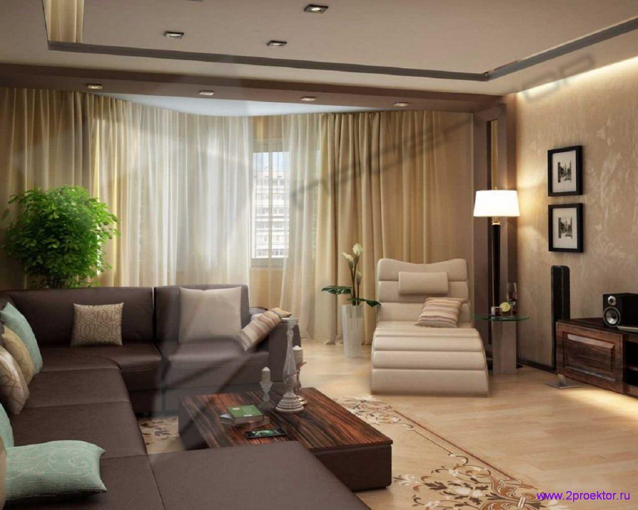 Дизайн гостиной в светлых и спокойных тонах в Жилом комплексе Измайловский лес.