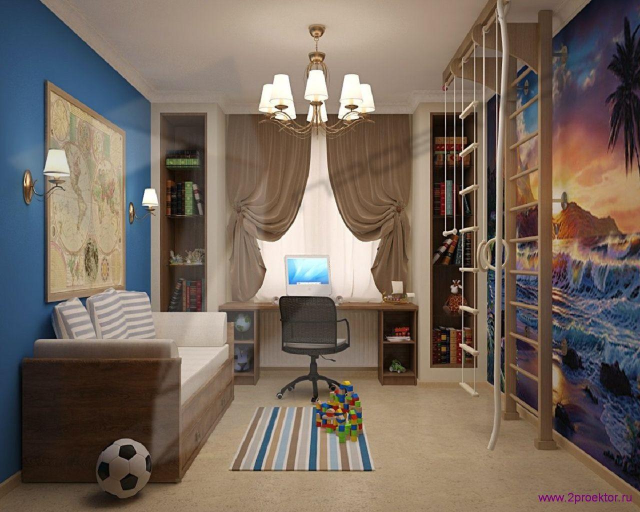 Дизайн комнаты для мальчика в Жилом комплексе Миракс парк.