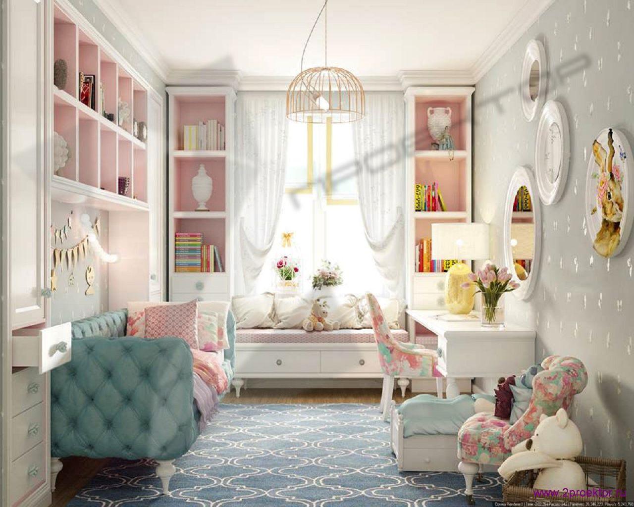 Дизайн комнаты для девочки в нежных тонах в Жилом комплексе Солнечный берег.