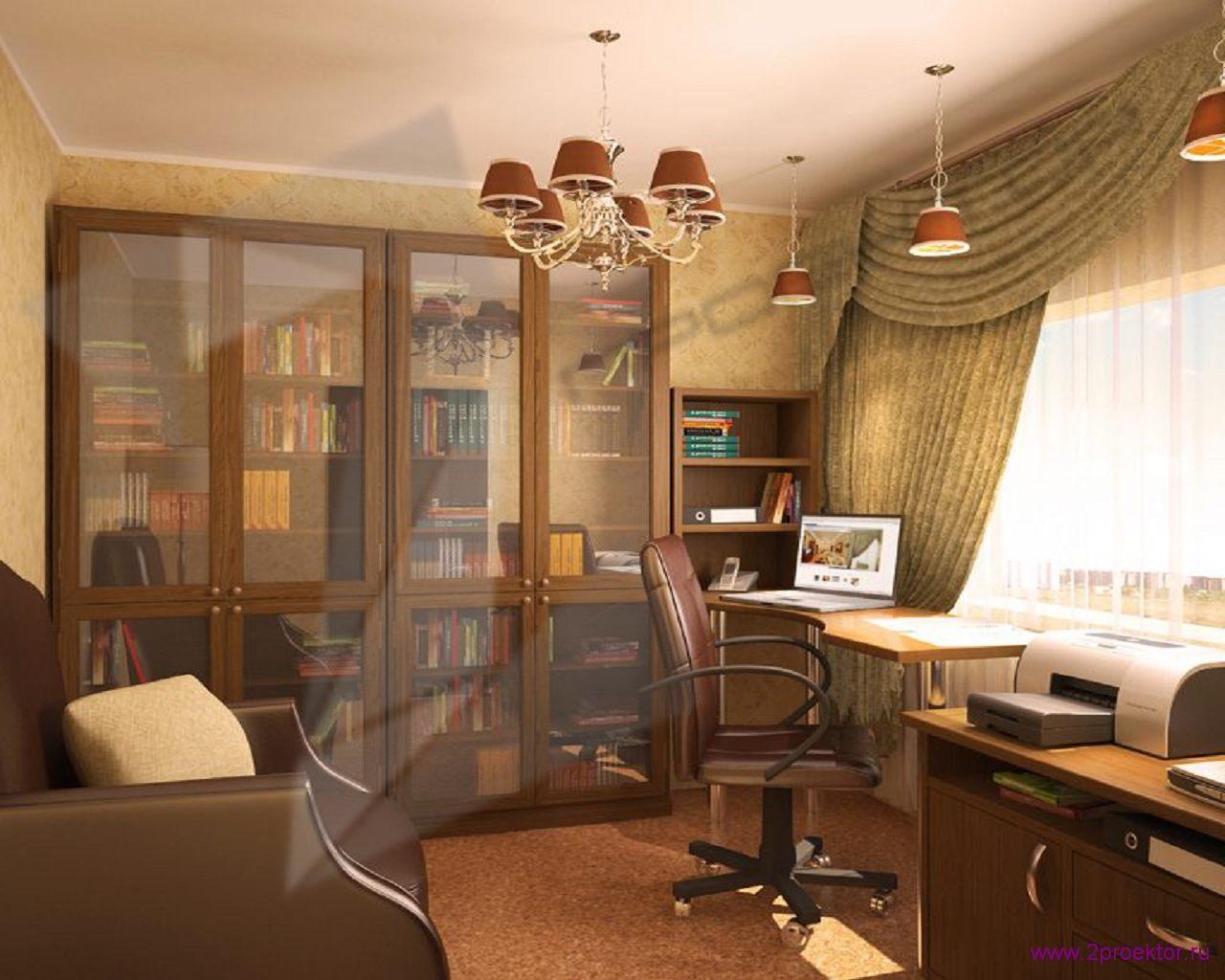 Дизайн кабинета в Жилом комплексе Пальмира.