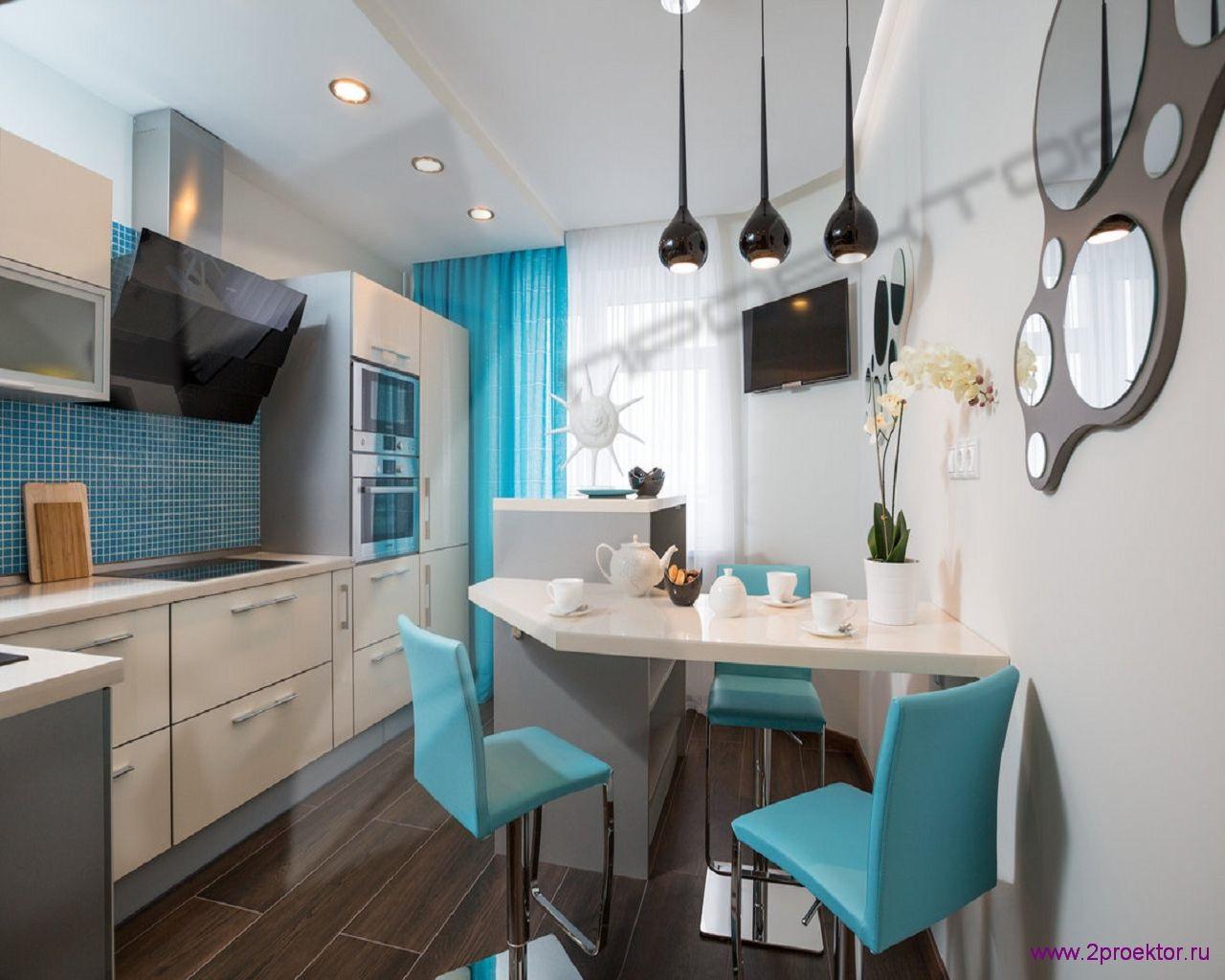 Дизайн небольшой кухни в Жилом комплексе Обыкновенное чудо.