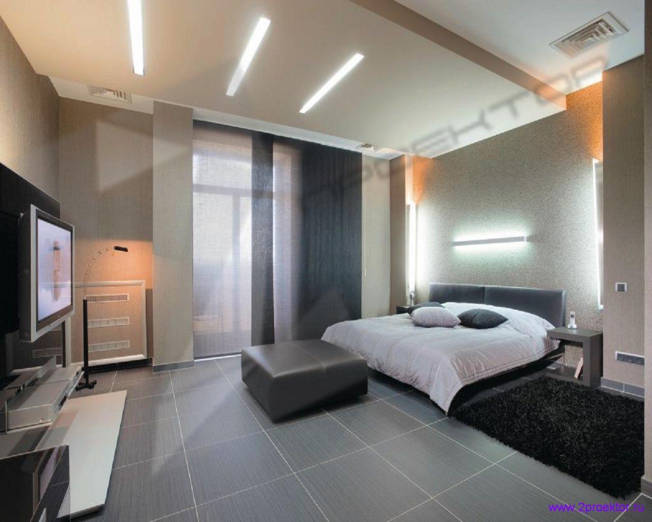 Дизайн спальни в современном стиле в Жилом комплексе Долина Грез.