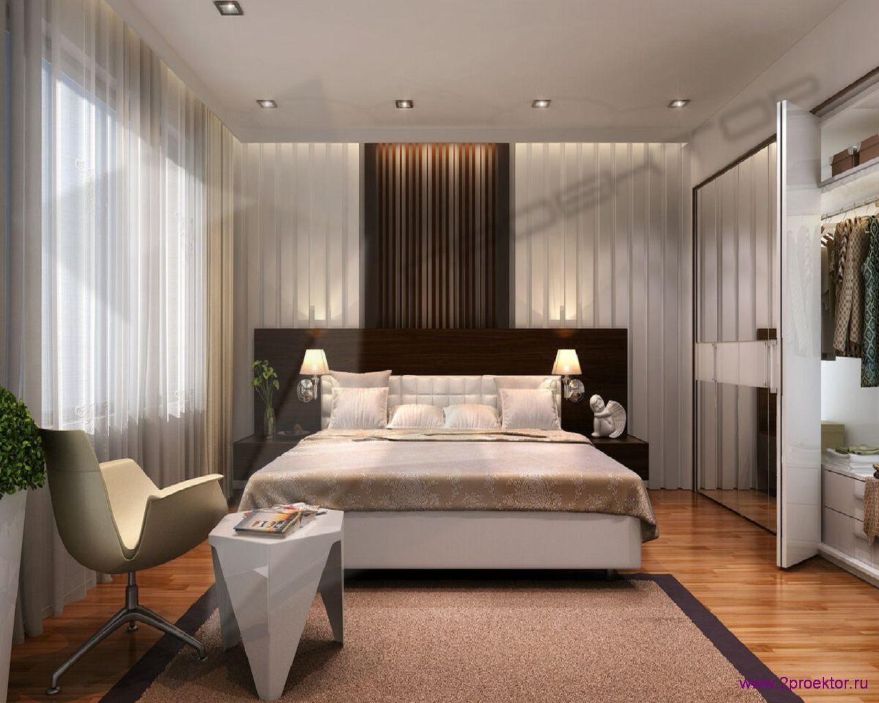 Дизайн спальни в светлых тонах в Жилом комплексе Тихвинская усадьба.