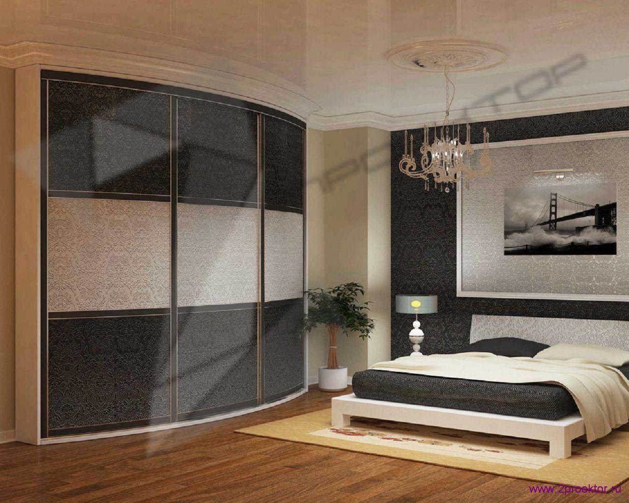 Дизайн спальни с угловым шкафом в Жилом комплексе Пальмира.