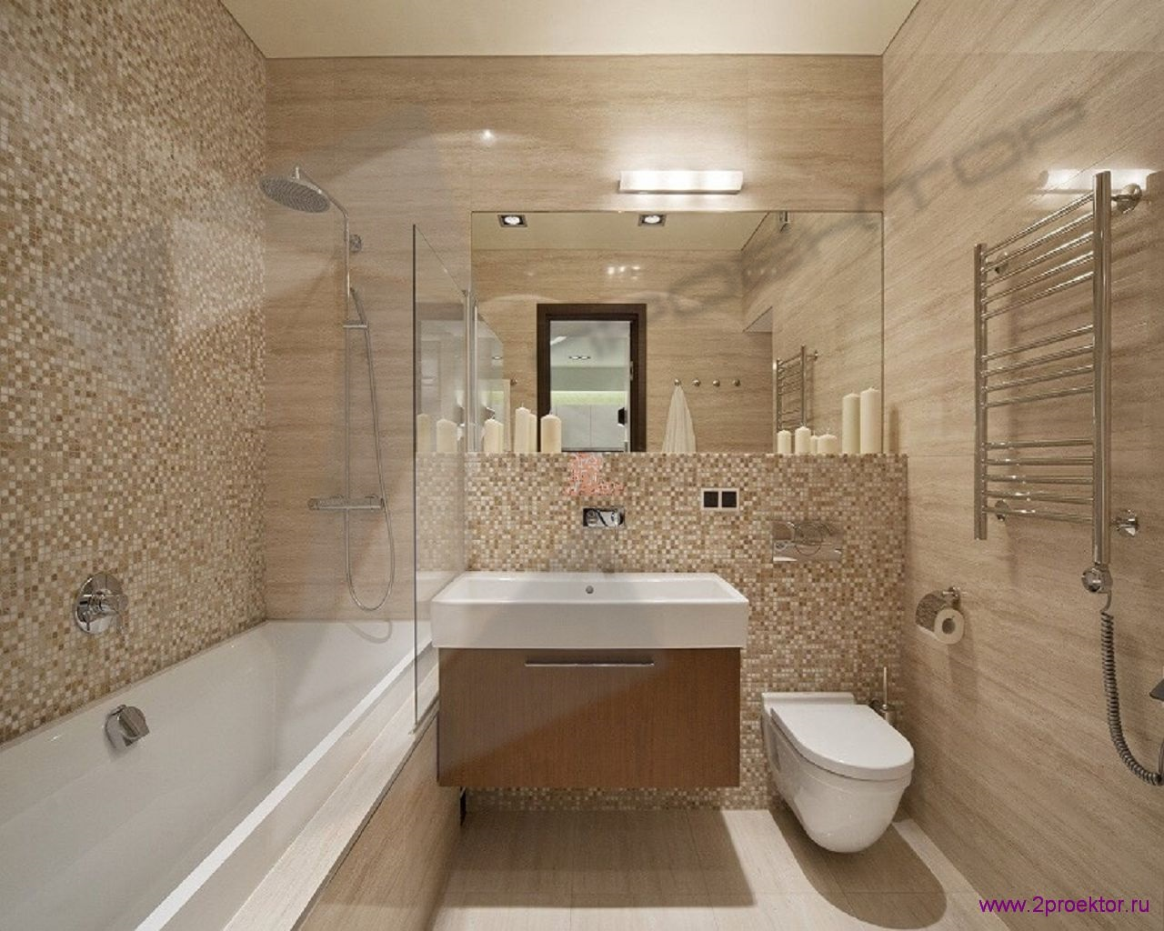 Дизайн ванной комнаты в Жилом комплексе Эмеральд.