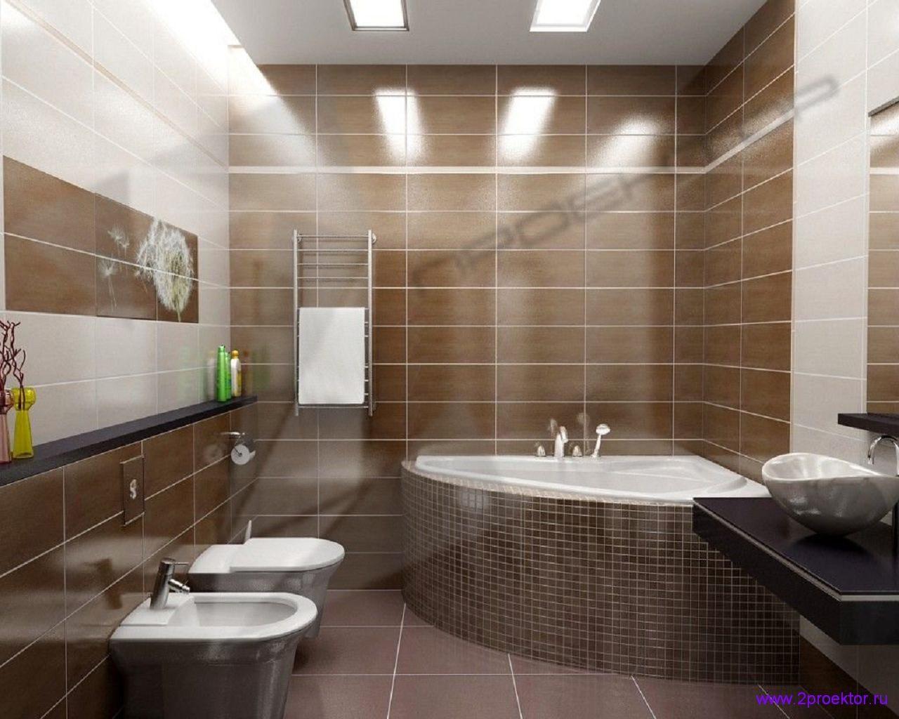Современный дизайн ванной комнаты в Жилом комплексе Головино.