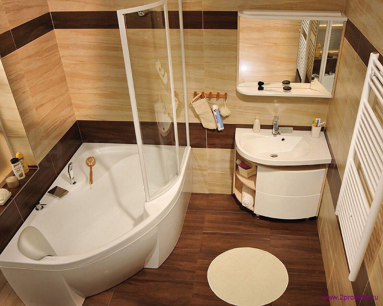 Уютный дизайн ванной комнаты в Жилом комплексе Корона.