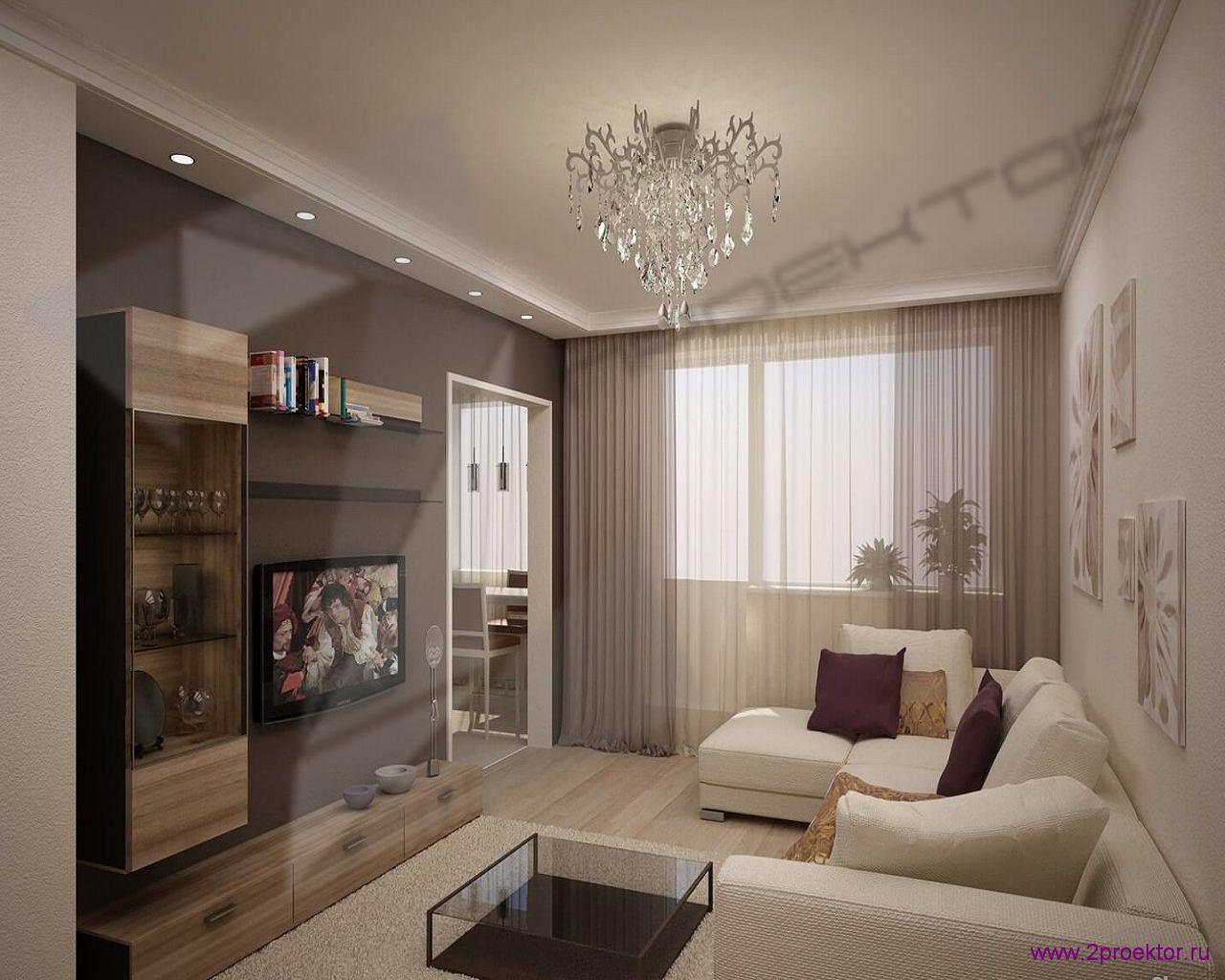 Дизайн гостиной в Жилом комплексе Шмитовский.