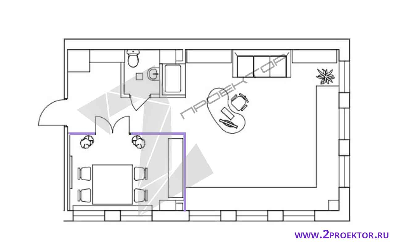 Проект перепланировки квартиры в доме серии ii 18