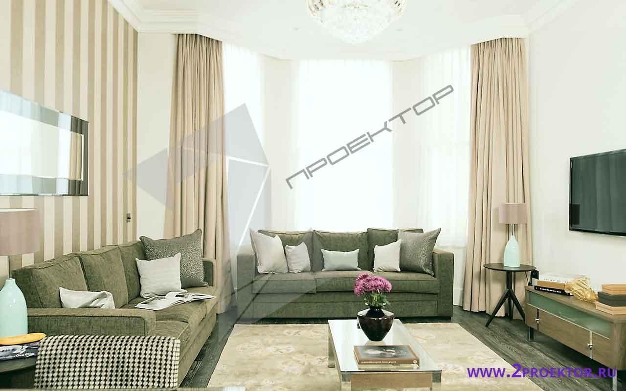 Интерьер перепланировки квартиры в доме серии ii-68-3
