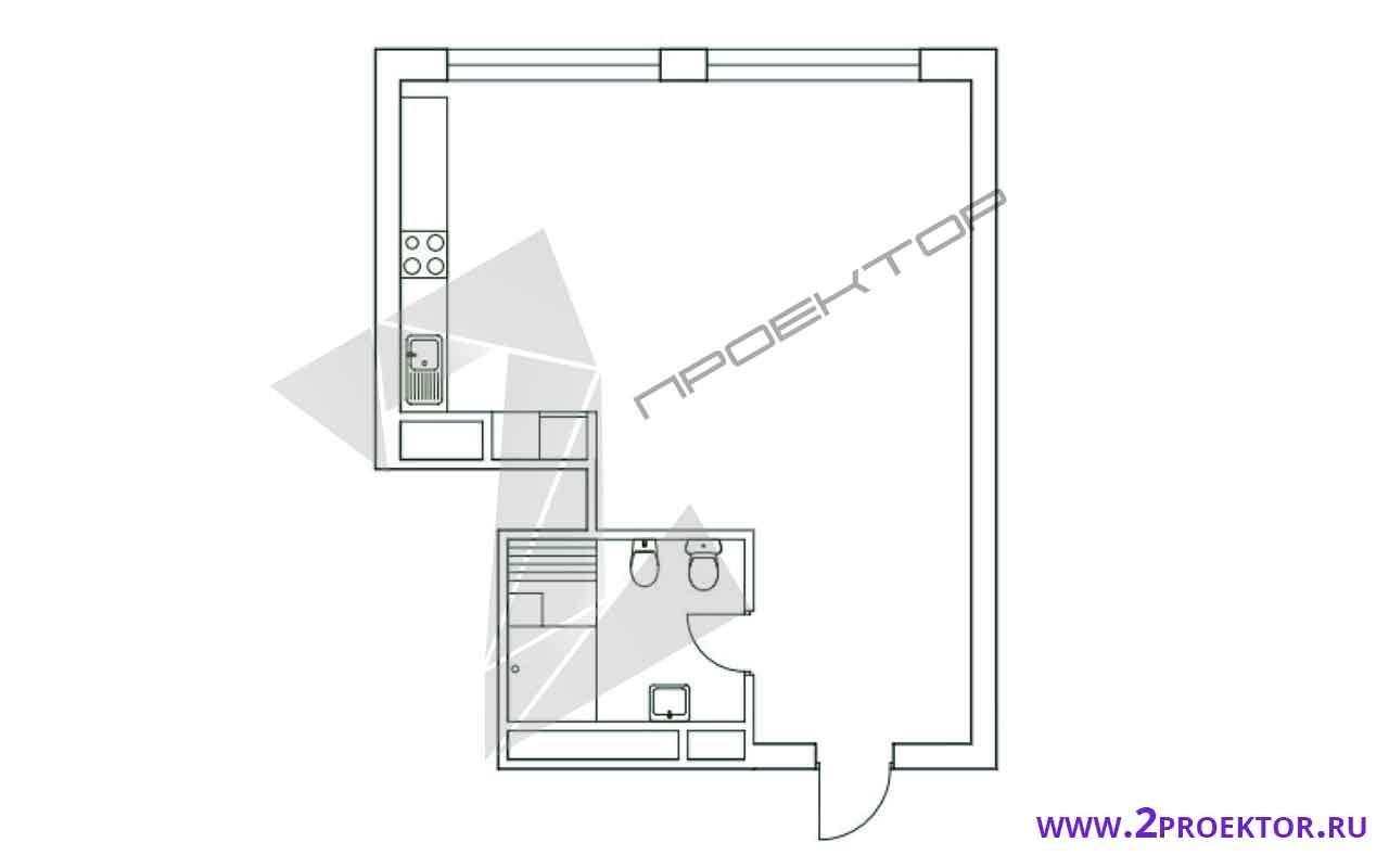 Проект перепланировки квартиры в доме серии ii-68