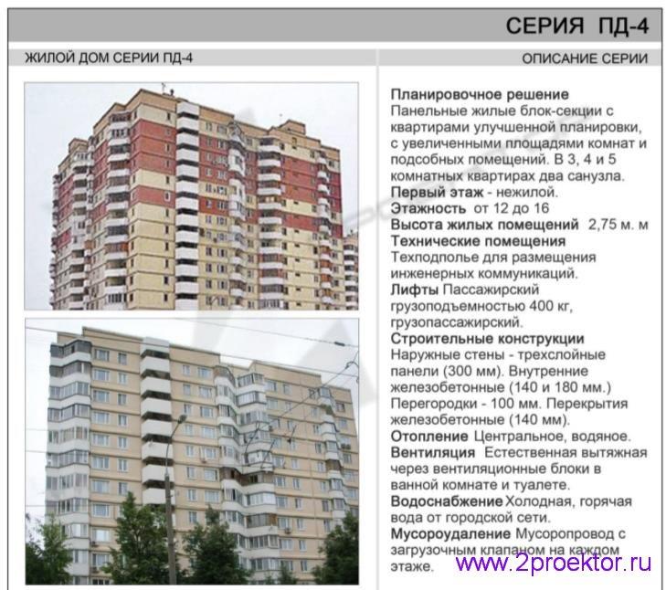 Жилой дом серии ПД-4