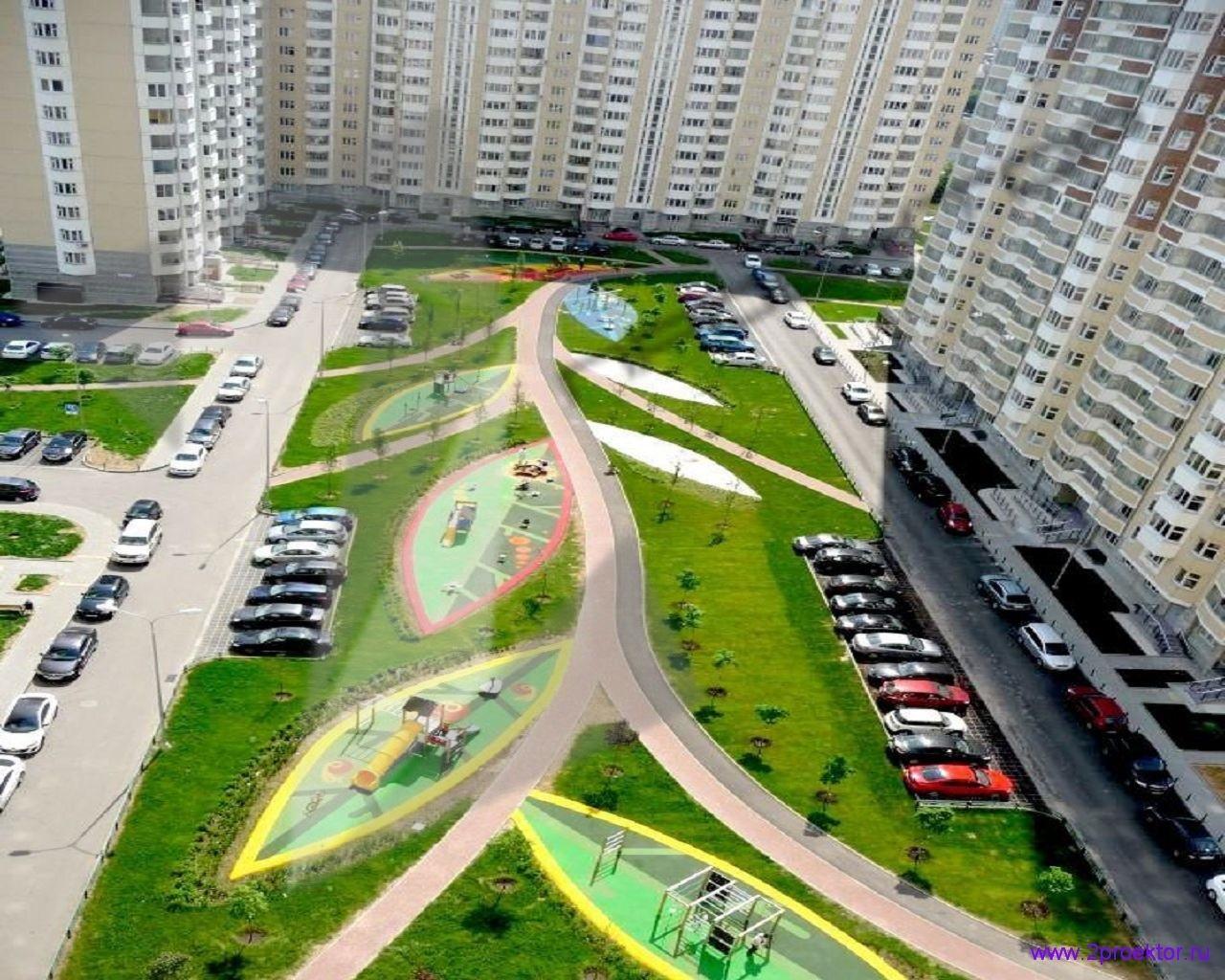 Ландшафт в Жилом комплексе Головино.