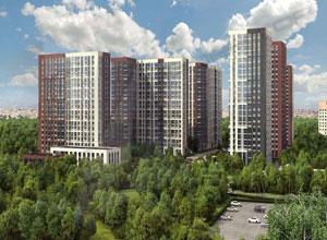Главный вид на Жилой комплекс Лесопарковый.