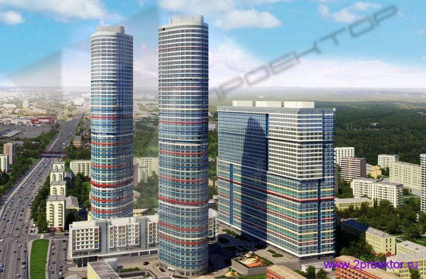 Общий вид на Жилой комплекс Триколор.