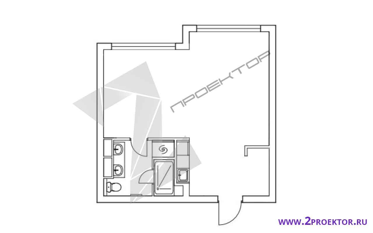 Проект перепланировки квартиры в однокомнатной хрущевке