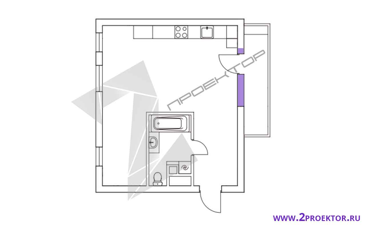 Проект перепланировки квартиры в доме серии п 46