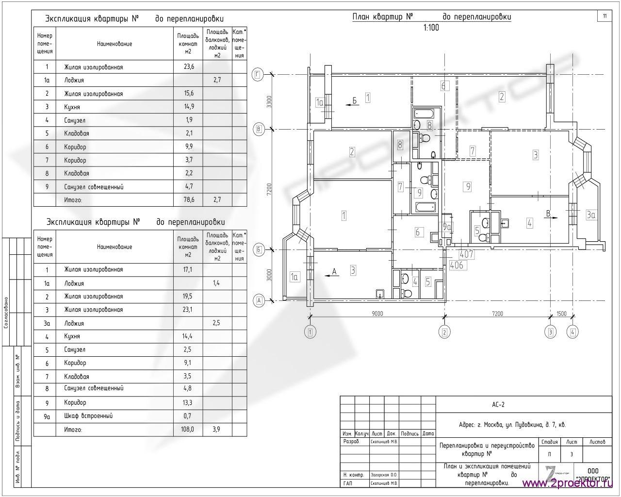 Типовой вариант по планировке и объединению квартир в Жилом комплексе Обыкновенное чудо.