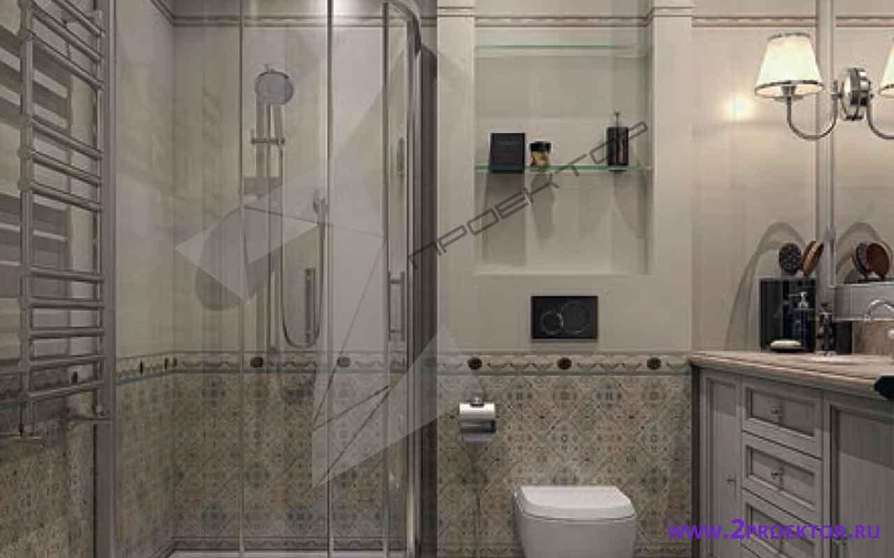 Интерьер перепланировки однокомнатной квартиры на 33 кв. м