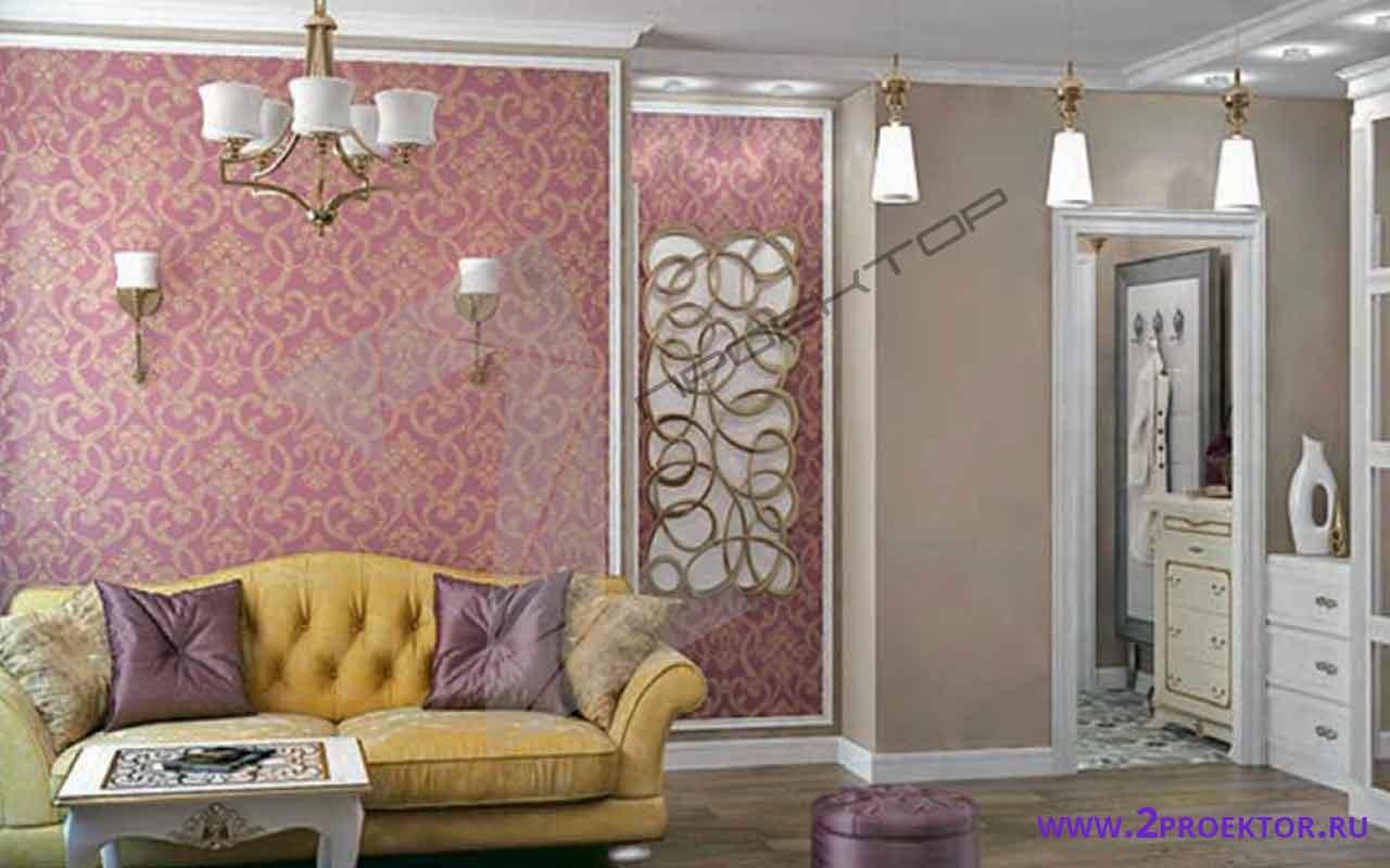 Интерьер перепланировки однокомнатной квартиры на 35 кв. м