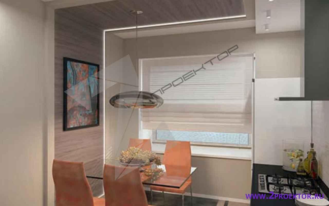 Интерьер перепланировки однокомнатной квартиры на 50 кв. м