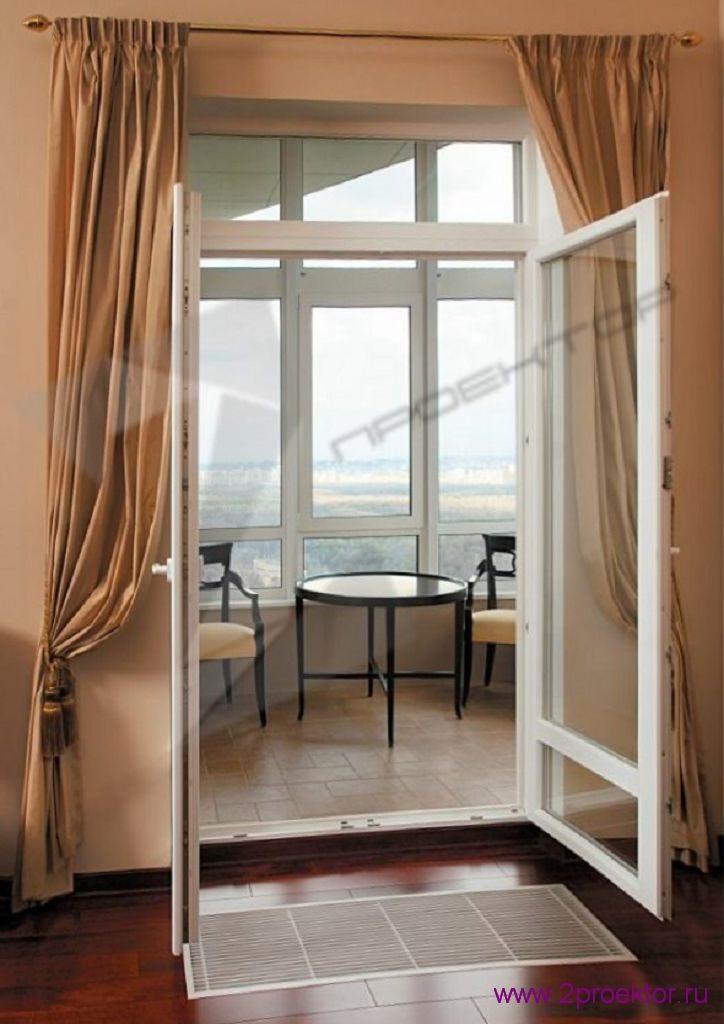 Распашные двери на балкон 1