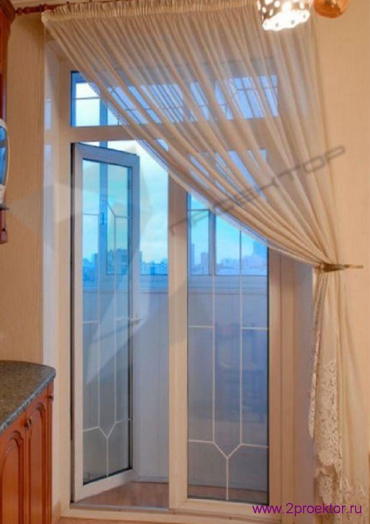 Распашные двери на балкон 2