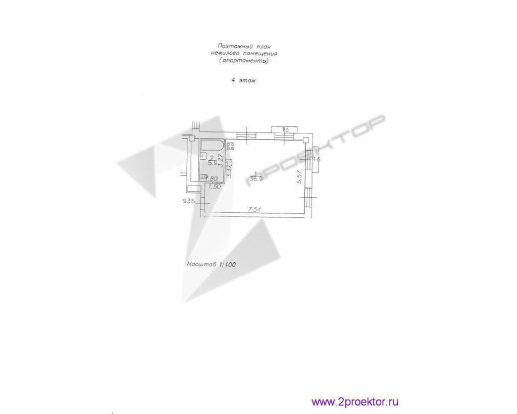 Поэтажный план апартаментов