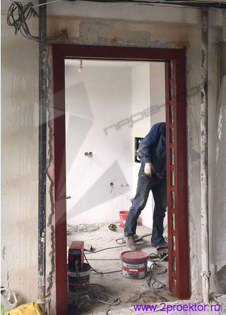 Усиление проема в стене панельного дома