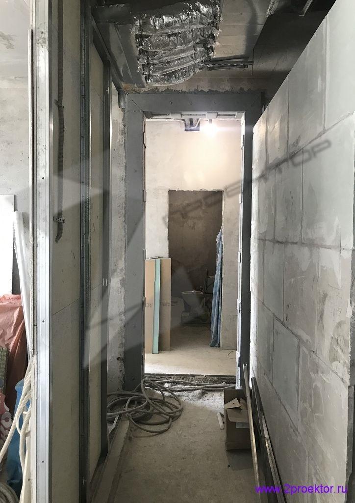 Устройство проема в несущей стене согласно проекту разработанному организацией ООО «2ПРОЕКТОР». Фото 1.