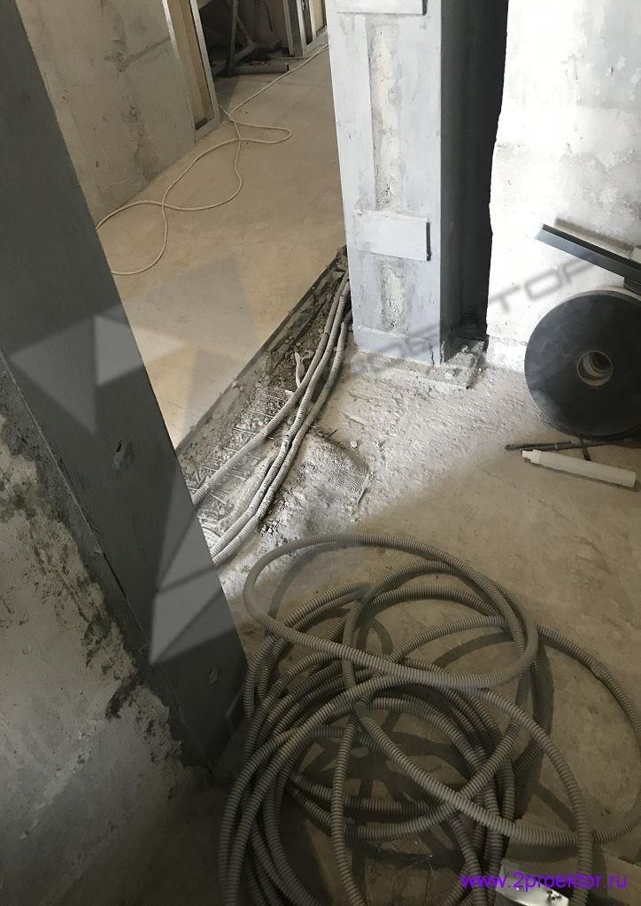 Устройство проема в несущей стене согласно проекту разработанному организацией ООО «2ПРОЕКТОР». Фото 3.
