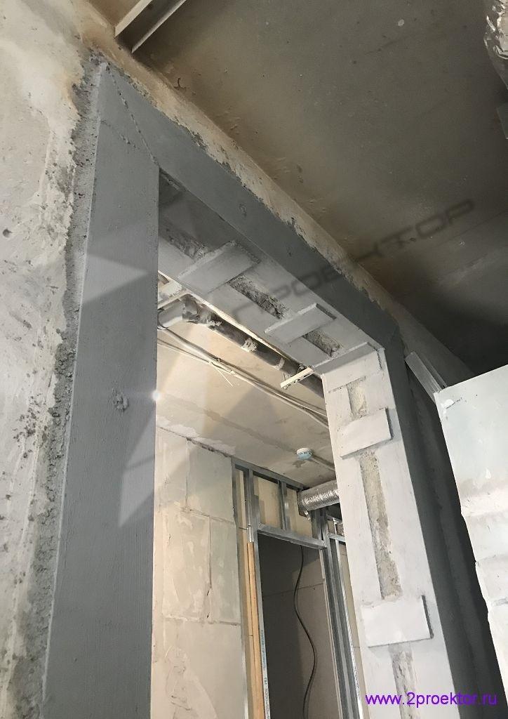 Устройство проема в несущей стене согласно проекту разработанному организацией ООО «2ПРОЕКТОР». Фото 4.