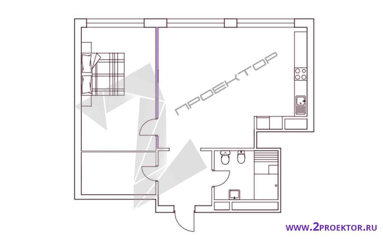Проект перепланировки квартиры в доме серии ii 209 а