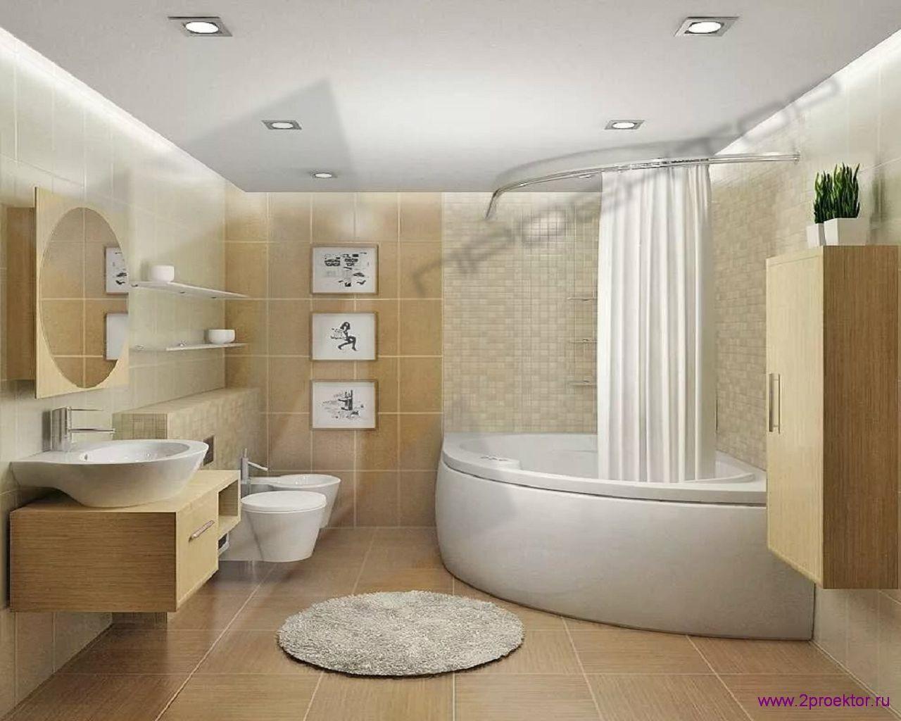 Дизайн ванной комнаты в Жилом комплексе Юго-Западный.