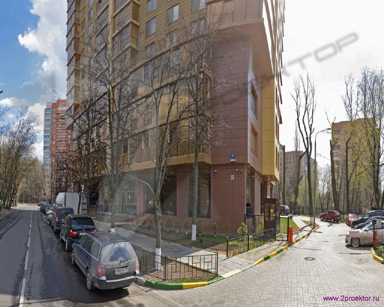 Вид со стороны улицы Жилого комплекса Суворов парк